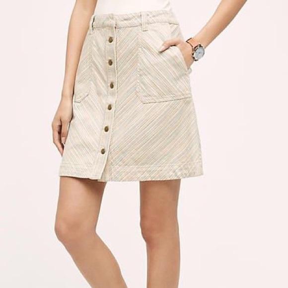 Anthropologie Dresses & Skirts - Anthropologie Pilcro Striped Chino Skirt